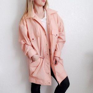 80-90s Vintage Oversized Salmon Pink Jacket 523